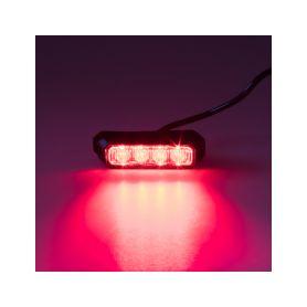 KF004E3WRED PREDATOR 4x3W LED, 12-24V, červený, ECE R10 Vnější ostatní