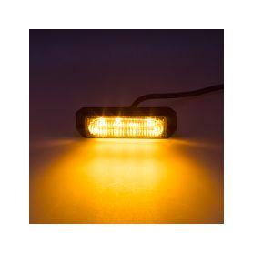KF004EM5W SLIM výstražné LED světlo vnější, oranžové, 12-24V, ECE R65 Vnější s ECE R65