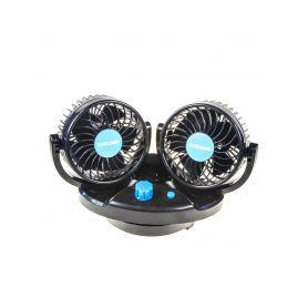 F4212 Ventilátor DUO na palubní desku 12V oscilační Ostatní doplňky