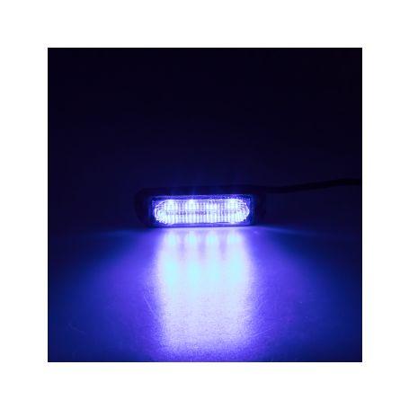 SLIM výstražné LED světlo vnější, modré, 12-24V, ECE R65