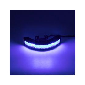 Výstražné LED světlo vnější, 12-24V, 12x3W, modré, ECE R65