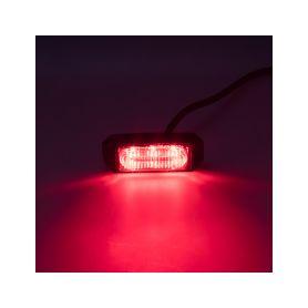 SLIM výstražné LED světlo vnější, červené, 12-24V, ECE R10