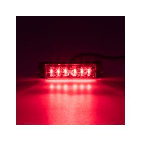 LINEAR LED 6x5W LED, 12-24V, červený, ECE R10
