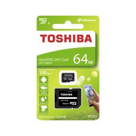 8064GCL10TO Paměťová karta MicroSDXC 64GB 100M UHS-I + adaptér, TOSHIBA Příslušenství záznamových kamer