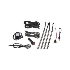 95RGB-SET05 LED podsvětlení vnitřní/vnější RGB 12V, bluetooth, 4 pásky LED pásky