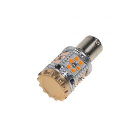 95CB101ORA LED BAU15s oranžová, CAN-BUS, 12-24V, 30LED/3030SMD Patice BAU15S