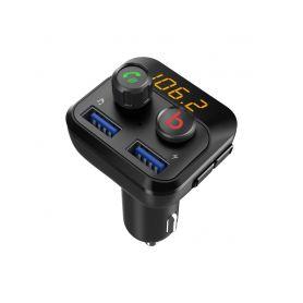 80559D Bluetooth/MP3/FM modulátor bezdrátový s USB/SD portem do CL s Bass Booster, dálkovým ovladačem USB/BLUE hudební přehrá...