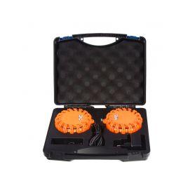 WL-H02SET2ORA LED výstražné světlo 16LED, oranžové, set 2ks Výstražná světla