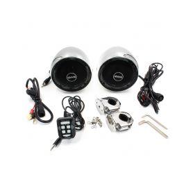 RSM100CH Zvukový systém na motocykl, skútr, ATV s FM, USB, AUX, BT, barva chrom Hobby sety