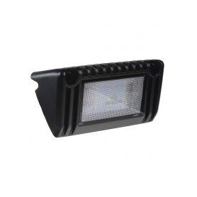 LED světlo nástěnné, 10-30V, 9x1W, černé, 129x60x43mm