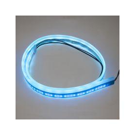 LED silikonový extra plochý pásek ledově modrý 12 V, 60 cm