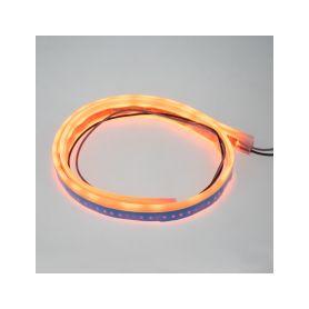 LED silikonový extra plochý pásek oranžový 12 V, 60 cm