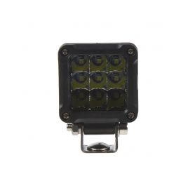 LED světlo mini čtvercové, 9x3W, 51x51x47mm
