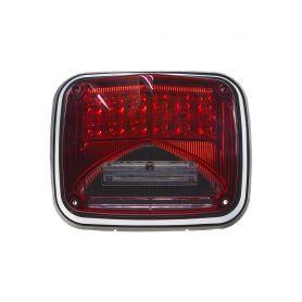 KF026RED Výstražné LED světlo obdélníkové s přísvitem, 12-24V, červené, ECE R65 Vnější s ECE R65