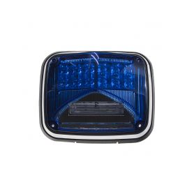 KF026BLU Výstražné LED světlo obdélníkové s přísvitem, 12-24V, modré, ECE R65 Vnější s ECE R65