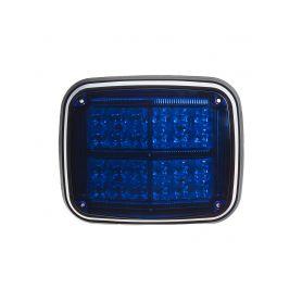 Výstražné LED světlo obdélníkové, 12/24V, modré