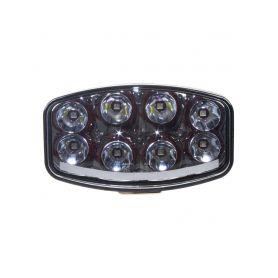 WLD788C LED světlo s pozičním světlem oválné, 8x8W, 210x140mm, ECE R7/R10/R112 Halogenová + HID světla