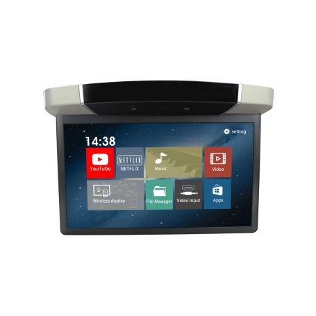 """DS-157AGRC Stropní LCD monitor 15,6"""" šedý s OS. Android HDMI / USB, dálkové ovládání se snímačem pohybu Stropní monitory"""
