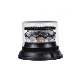 911-C24FCL PROFI LED maják 12-24V 24x3W oranžový čirý133x110mm, ECE R65 LED pevná montáž
