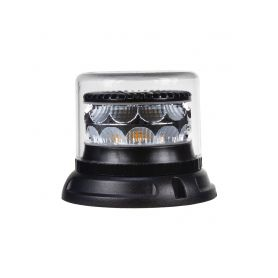 911-C24FCL PROFI LED maják 12-24V 24x3W oranžový čirý133x86mm, ECE R65 LED pevná montáž