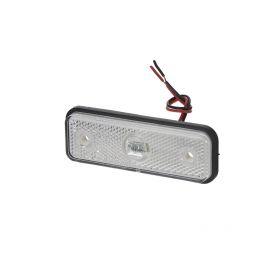 KF661E Přední obrysové světlo LED, bílý obdélník, ECE R91 Boční obrysová světl + tykadla