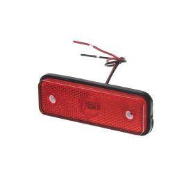 Zadní obrysové světlo LED, červený obdélník