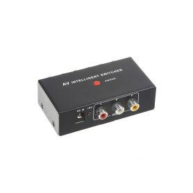 80354 Inteligentní VIDEO / AUDIO přepínač 2IN/1OUT Rozbočovače a přepínače