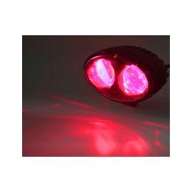 WA-008R PROFI LED výstražné bodové světlo 10-48V 2x4W červené 143x122mm, ECE R10 Pracovní světla a rampy