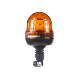 LED maják, 12-24V, 16x3W, oranžový na držák, ECE R65