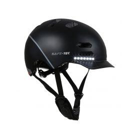 SAFE-TEC 2003-153 SK8 Black S (53cm - 55cm) Chytré bluetooth helmy na kolo