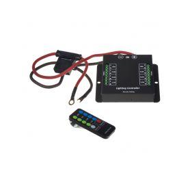 SBWL5 x Dálkově ovládaný spínač 12/24V 60A (2x20A+2x5A+2x3,5A+2x1,5A) Držáky, kabely, moduly