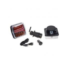 TRL21LEDW 2x sdružená aku lampa zadní LED s bezdrátovým připojením k 7pin zástrčce, ECE R10 Zadní + kombinovaná