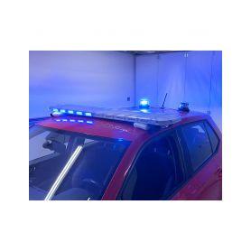 SRE911-AIR38SET LED rampa 974mm, modrá/červená + 2x LED maják Modré / červené 600-1400mm