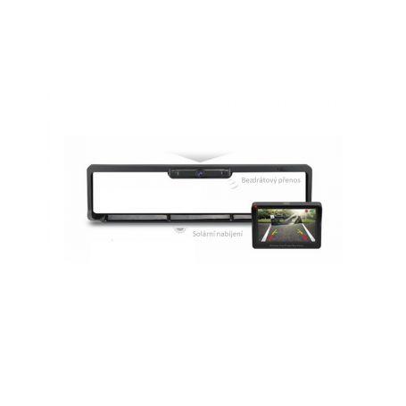 """CW3-SPZCAM43 SET bezdrátový digitální kamerový systém s kamerou v SPZ se solárním napájením a monitorem 4,3"""" Parkovací sady"""