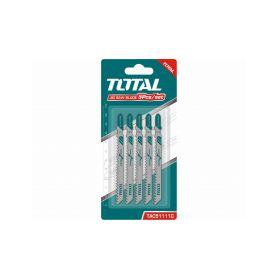 TOTAL-TOOLS TAC51111C Plátky do přímočaré pily, dřevo, 5ks Příslušenství pro pily