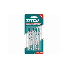 TOTAL-TOOLS TAC51101D Plátky do přímočaré pily, dřevo, 5ks Příslušenství pro pily