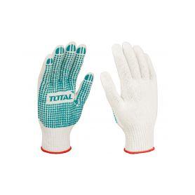 TOTAL-TOOLS TSP11102 Rukavice pletené bílé, vel. 10 (XL) Pracovní rukavice