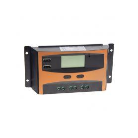 34403 Solární regulátor nabíjení 12V/24V, 20A s LCD Fotovoltaika