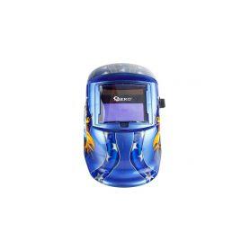 GEKO G01878 Svářecí kukla samostmívací modrá s plameny Brýle, kukly a štíty