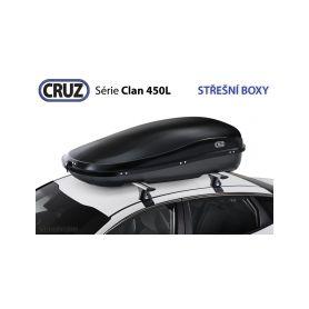 Střešní box CRUZ Clan 450N, U80, černý Střešní boxy