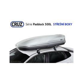 Střešní box CRUZ Paddock 500G, lesklá šedá Střešní boxy