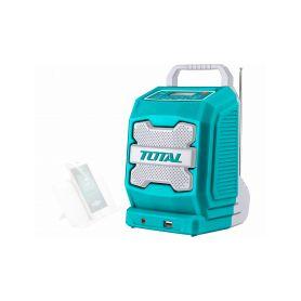 TOTAL-TOOLS TJRLI2001 Rádio AKU, 20V Li-ion, 2000mAh, industrial - bez baterie a nabíječky Ostatní el. nářadí