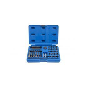 QUATROS QS14140 Sada na opravu závitů žhavicích svíček M8x1, M10x1, M10x1.25, M12x1.25, 33 kusů Klíče