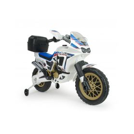Injusa elektrická motorka Honda Africa Twin White 6V Elektrická vozítka