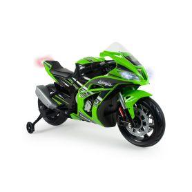 Injusa elektrická motorka Kawasaki ZX10 Ninja Green 12V Elektrická vozítka