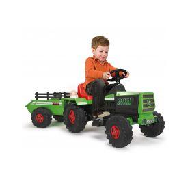 Injusa elektrický traktor Basic s přívěsem Green 6V Elektrická vozítka