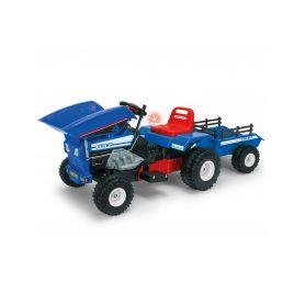 Injusa elektrický traktor se sklápěčem a přívěsem Blue 12V Elektrická vozítka
