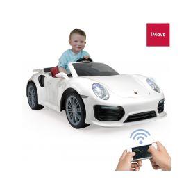 Injusa elektrické autíčko Porsche 911 Turbo S White 12V iMove Elektrická vozítka