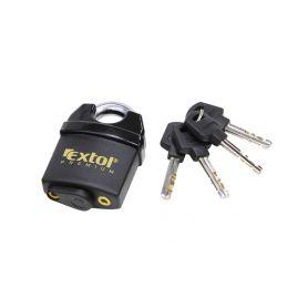 EXTOL-PREMIUM EX8857760 Zámek visací bezpečnostní voděodolný, 60mm, 4 klíče Schránky a zámky