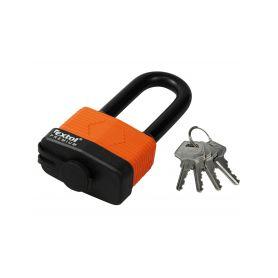 EXTOL-PREMIUM EX8857665 Zámek visací voděodolný, prodloužený, 65mm, 4 klíče Schránky a zámky
